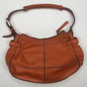 Cole Haan burnt orange pebbled handbag